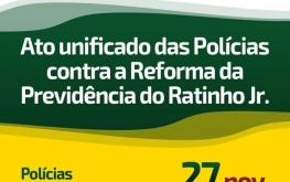 Ato unificado das polícias contra a reforma da previdência do Ratinho Jr.