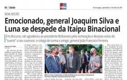 GENERAL JOAQUIM SILVA E LUNA - NOVA MISSÃO