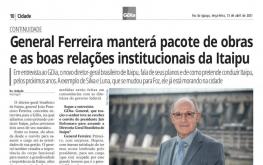 CONTINUIDADE - NOVO DIRETOR GERAL BRASILEIRO DA ITAIPU BINACIONAL.